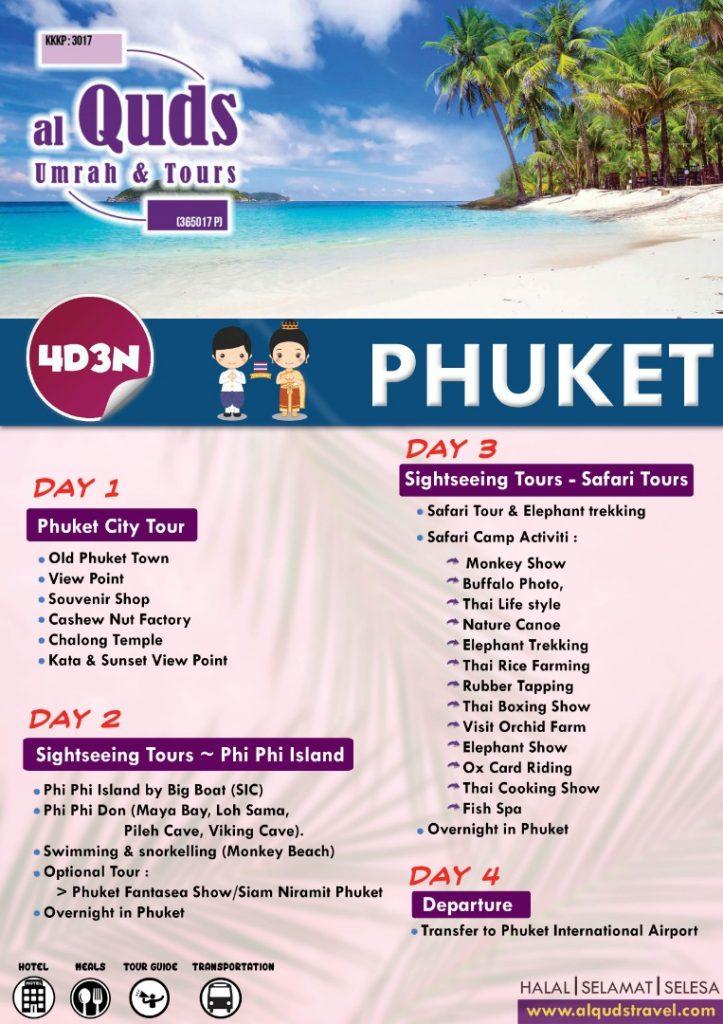 itinerary phuket