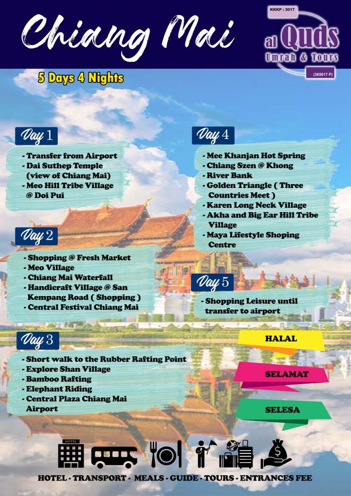 ITINERARY CHIANG MAI