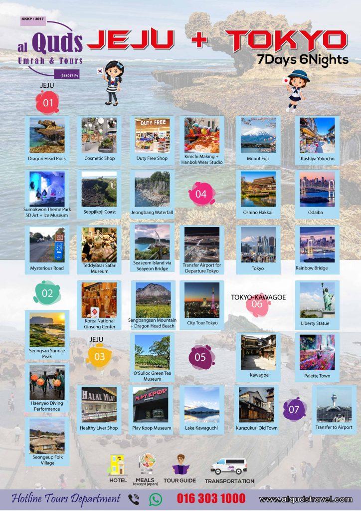 itinerary jeju + tokyo