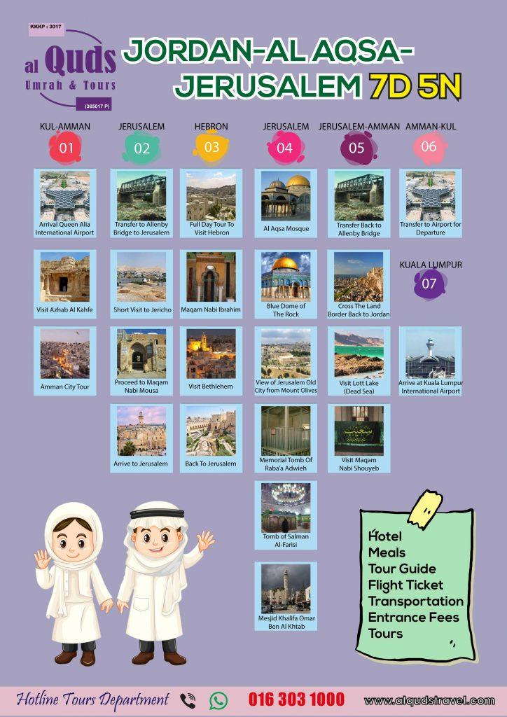 itinerary jordan al qsa
