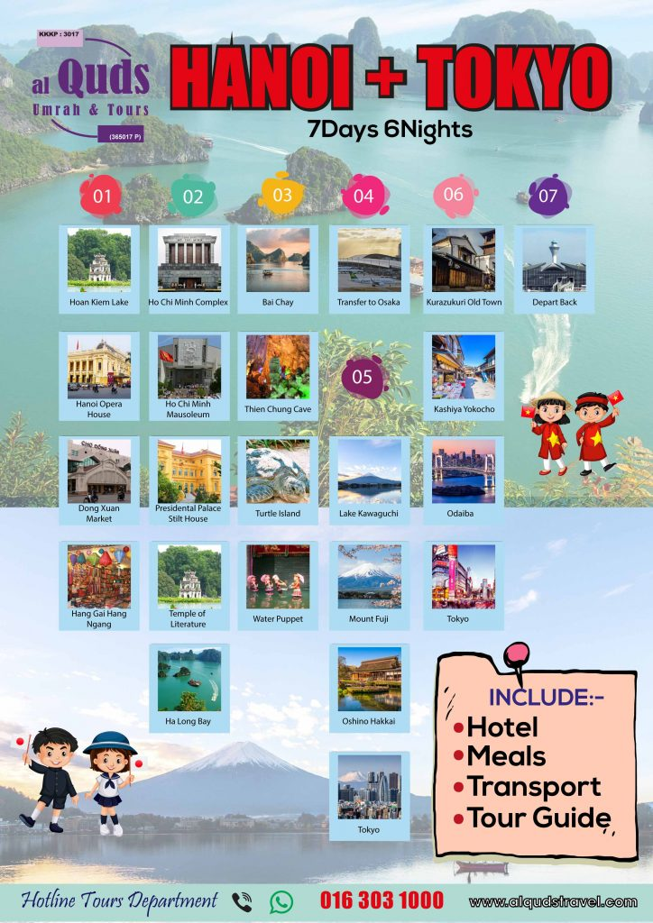 itinerary hanoi + tokyo