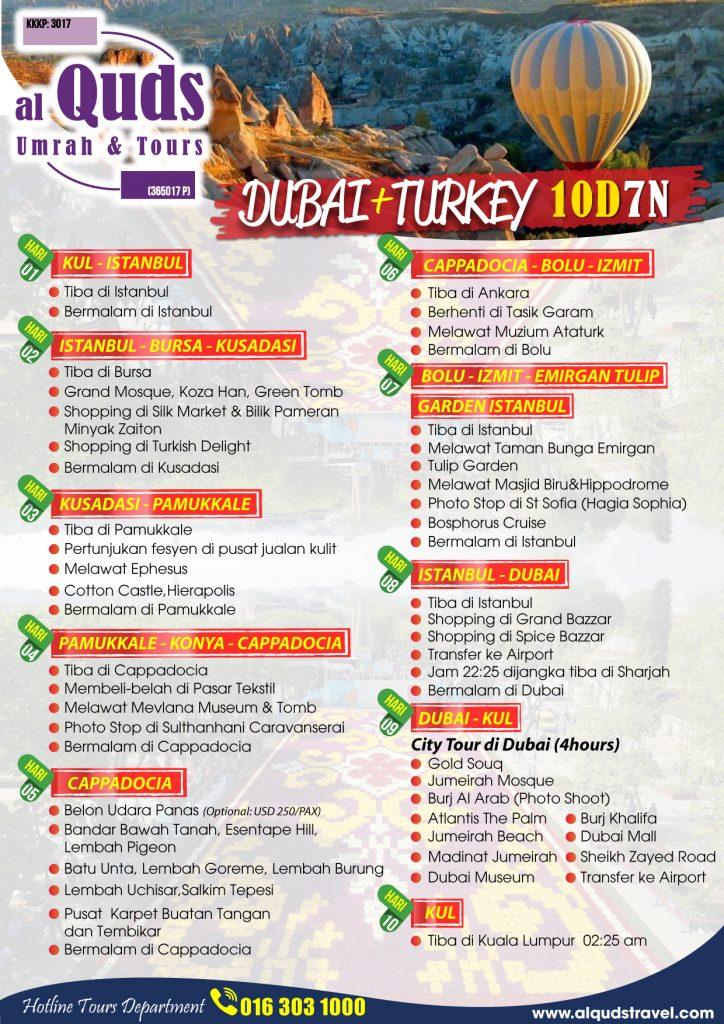 itinerary dubai turkey