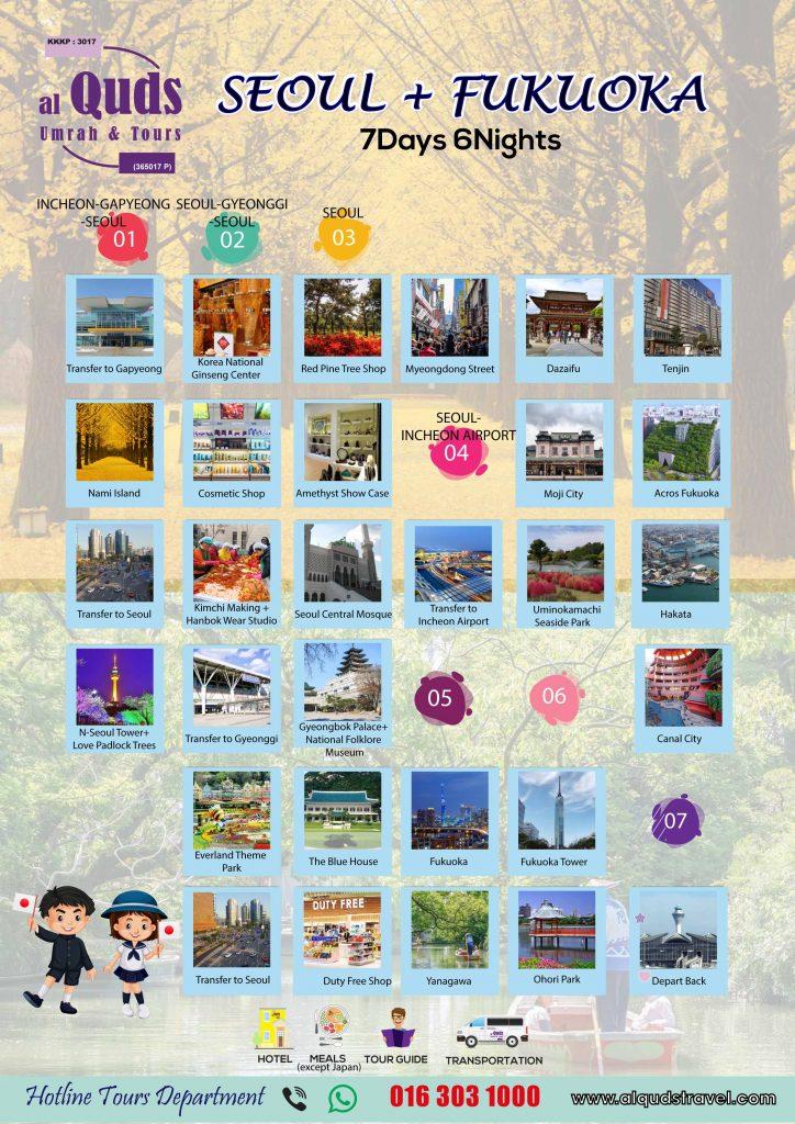 itinerary seoul + fukuoka